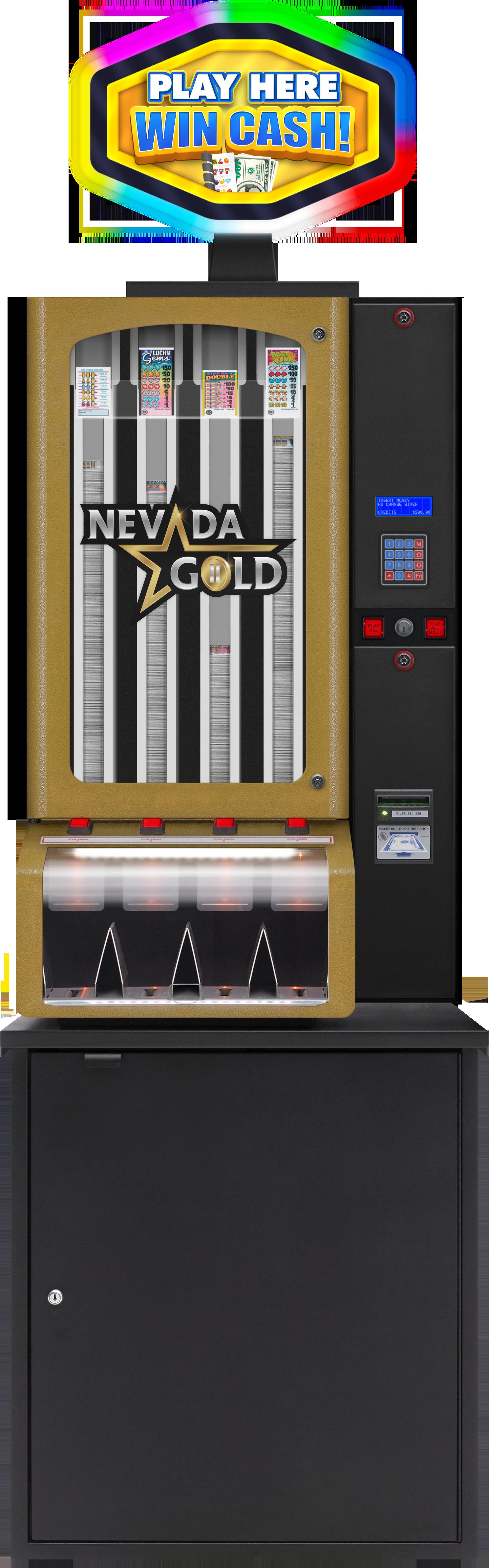 Nevada Gold II 4 col with Topper BINGO EQUIPMENT/Pull Tab Dispensers/Nevada Gold II
