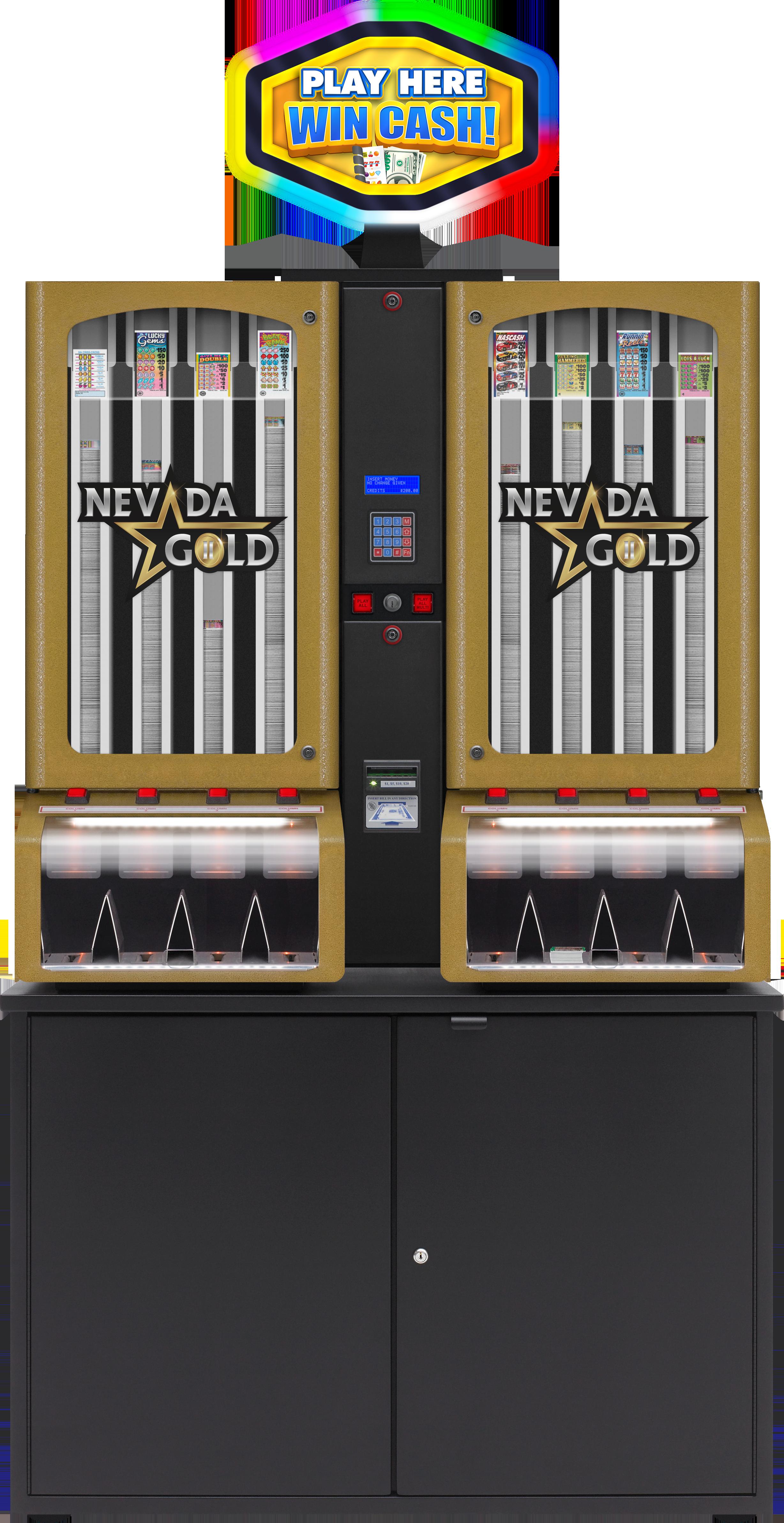 Nevada Gold II 8 col with Topper BINGO EQUIPMENT/Pull Tab Dispensers/Nevada Gold II