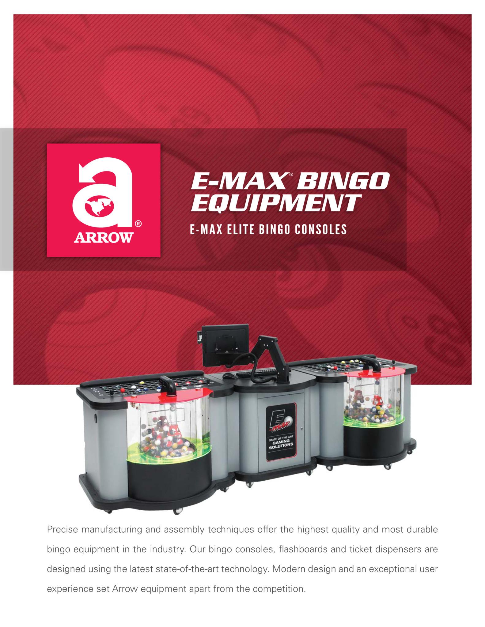 E-max Elite Bingo Console Flyer Promotional Materials/Equipment Flyers & Brochures
