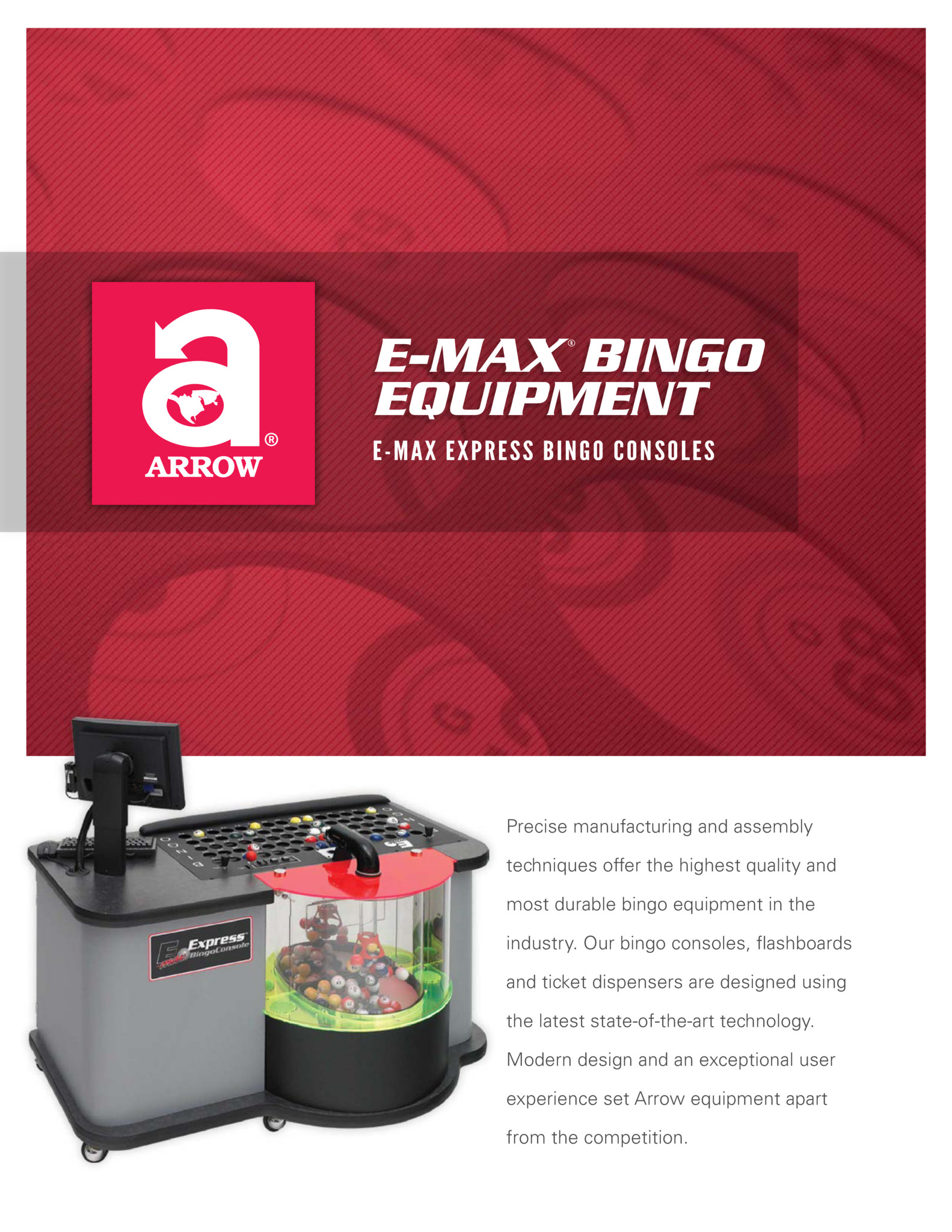 E-max Express Bingo Console Flyer Promotional Materials/Equipment Flyers & Brochures