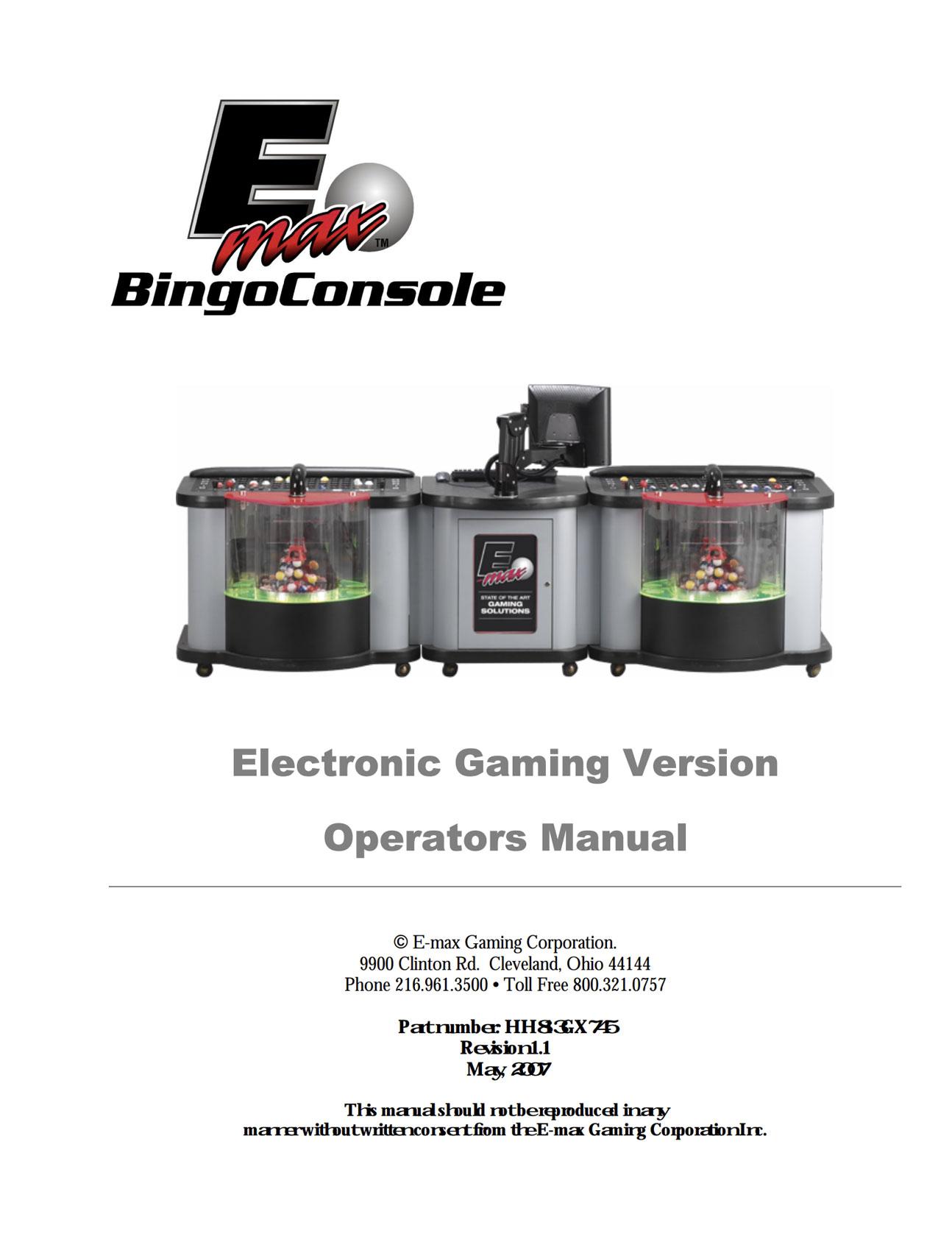 E-max Elite Manual Equipment Manuals