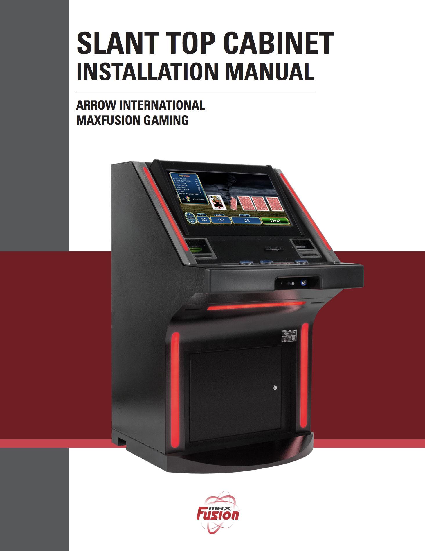 MaxFusion Slat Top Manual Equipment Manuals