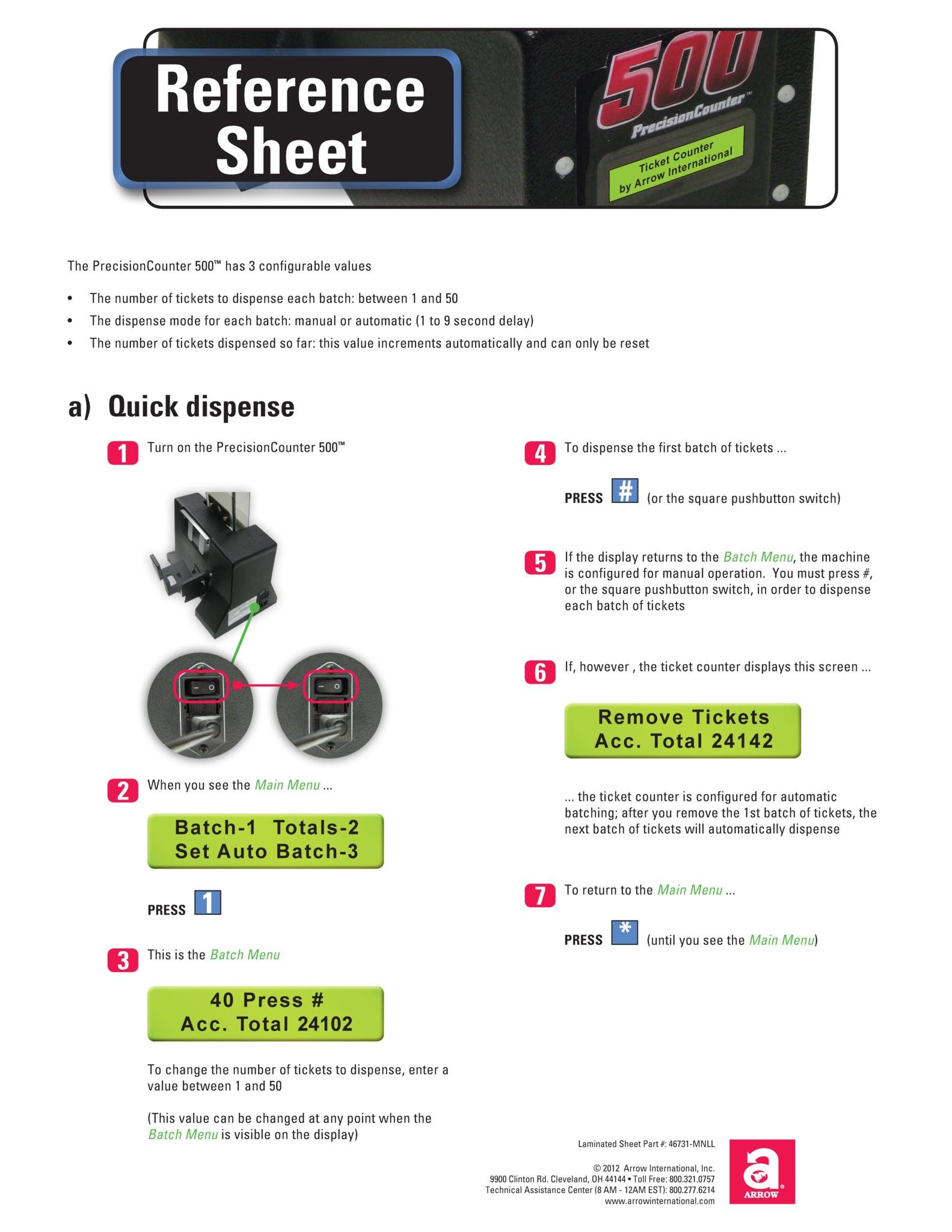 Precision500 Quick Start Guide Equipment Manuals/Quick Start Guides