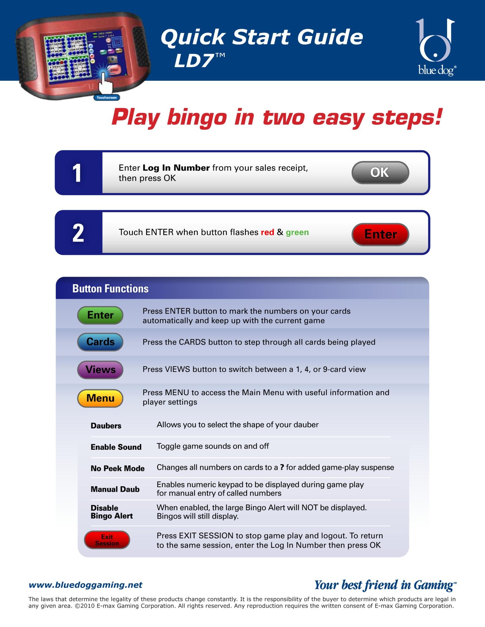 LD7 QuickStart Equipment Manuals/Quick Start Guides