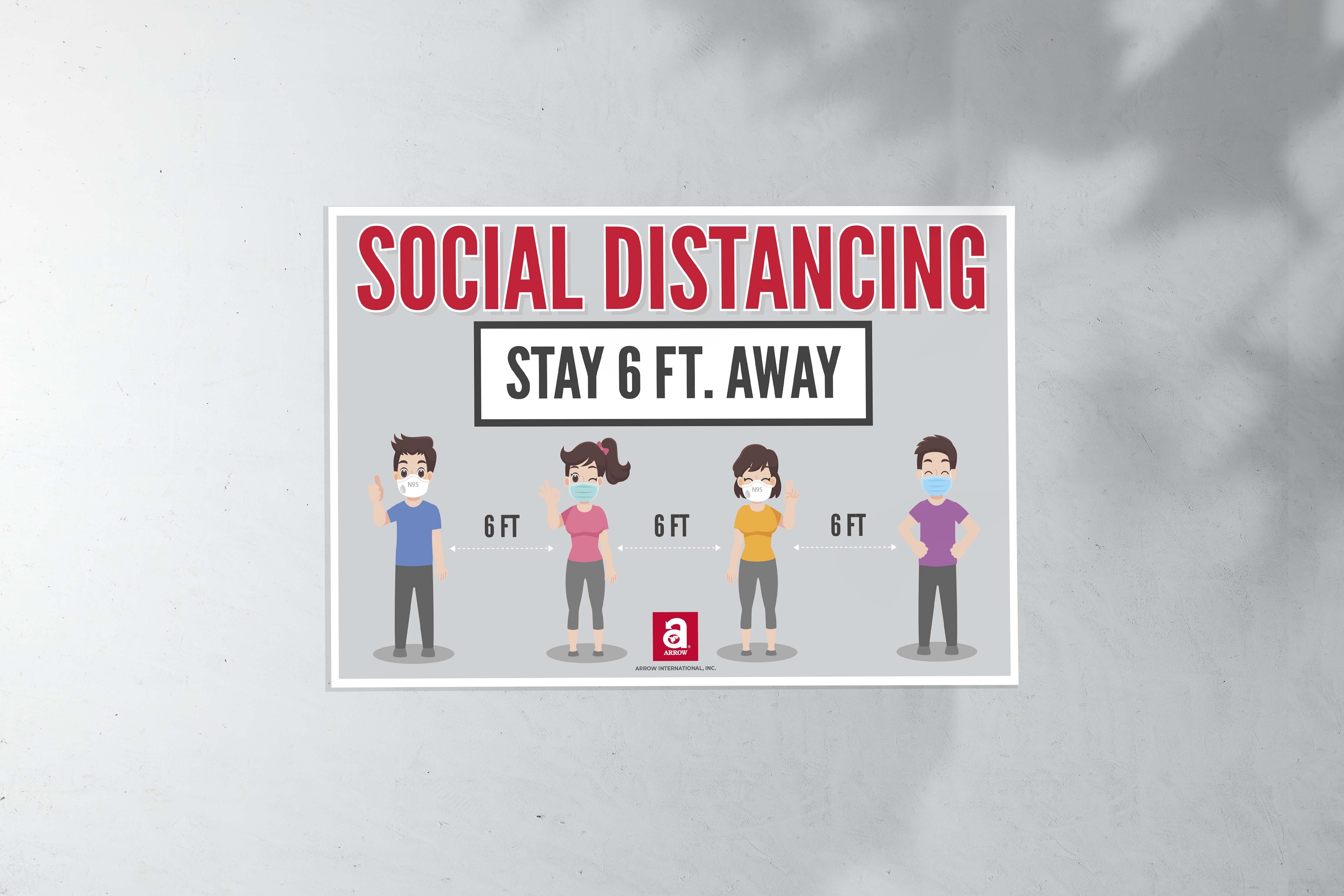 Social Distancing Sign (17