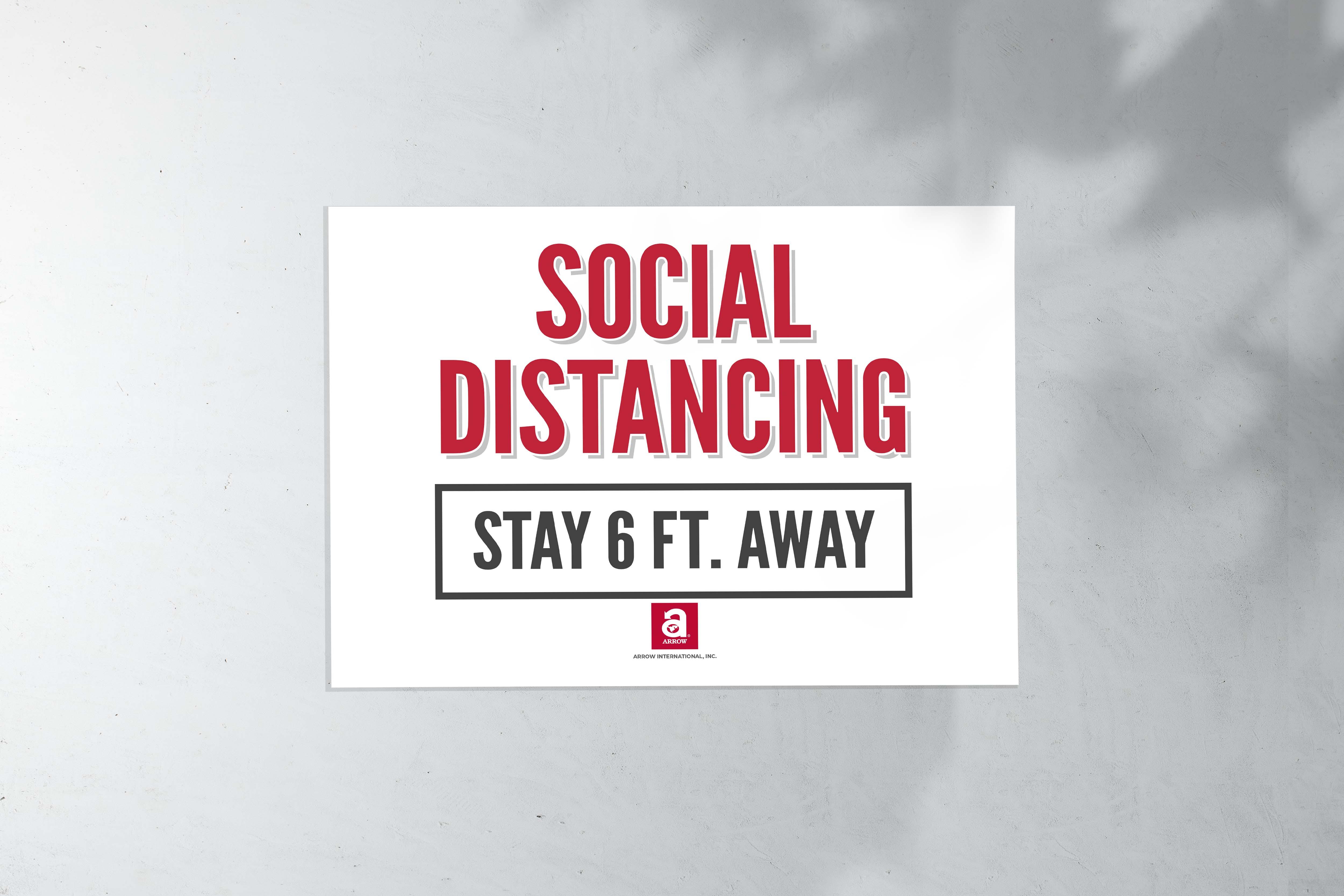 Social Distance Sign (17